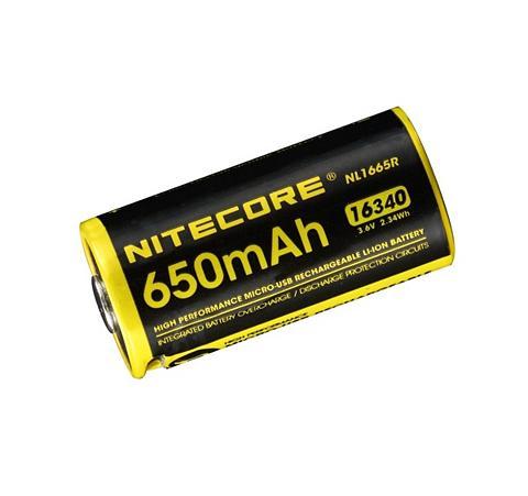 Nitecore » 16340R« Akku 650 mAh (37 V)