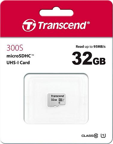 Transcend »microSDXC/SDHC 300S« Speicherkarte (3...