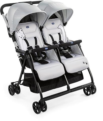 Chicco Zwillingsbuggy »OHlalà Twin Silver Cat...