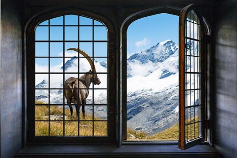 queence Wandsticker »Die Berge«
