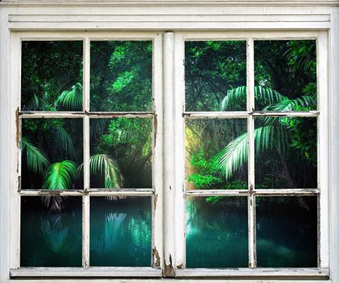 queence Wandsticker »Bäume ant Wasser«