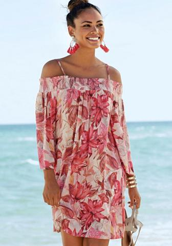 s.Oliver Beachwear Suknelė su Blumenprint