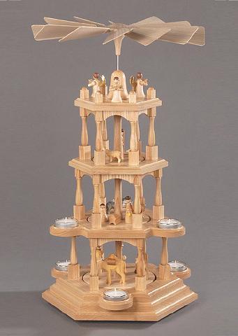 ALBIN PREISSLER Pyramide natur »Christi Geburt«
