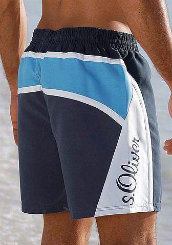 S.OLIVER RED LABEL Paplūdimio Maudymosi šortai su Logo-Sc...