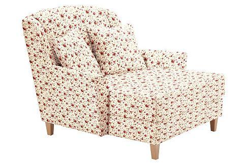 ® XXL Gėlėtas fotelis »Julia« su natūr...