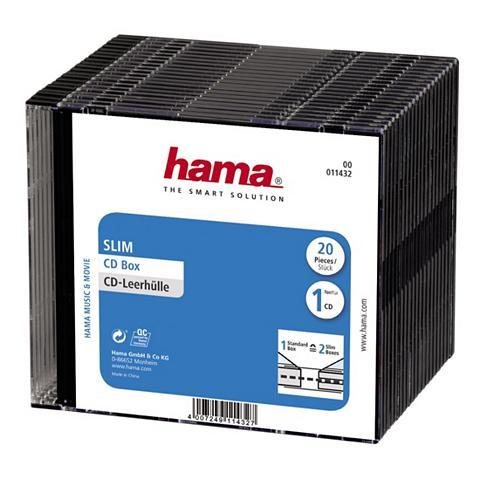 CD-Slim-Box 20er-Pack juoda spalva Vor...