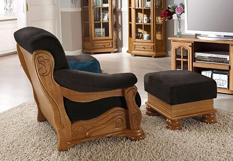 ® Kojų kėdutė »Texas« su puošnus medin...