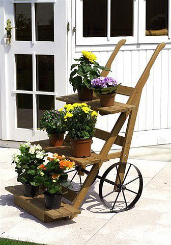 PROMADINO Vežimėlis gėlėms honigbraun Bx H: 68x1...