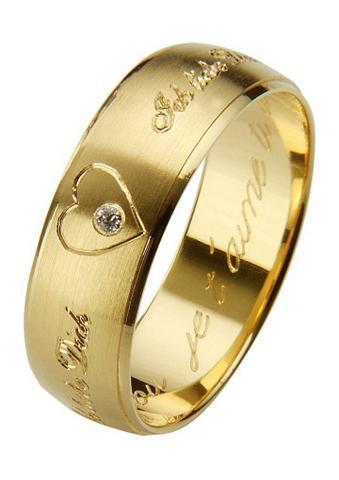 FIRETTI Vestuvinis žiedas su kietas Gravur