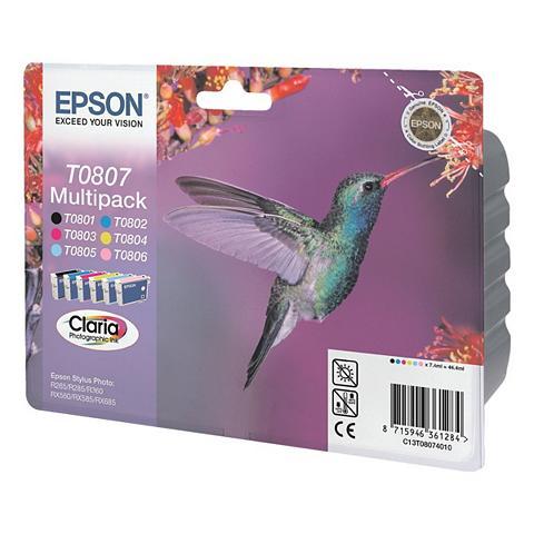 EPSON 6er-Multipack Tintenpatronen »T0807«