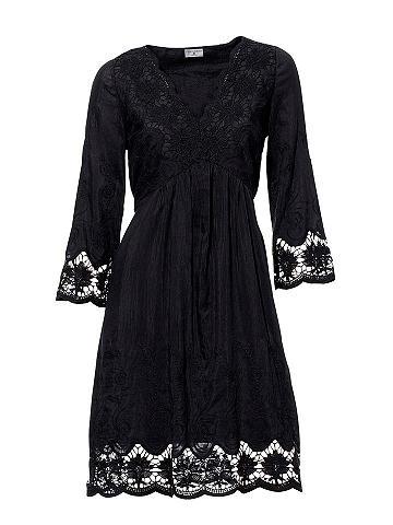 Nėriniuota suknelė su 3/4 rankovėmis