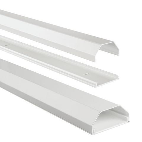 Alu-Kabelkanal eckig 110/5/26 cm Weiß