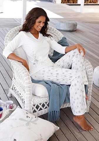 Bodywear pižama su Allover-Pusteblumen...