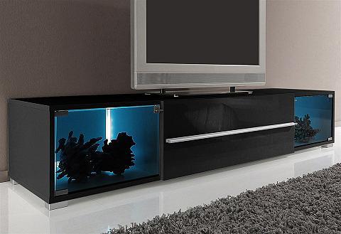 TV spintelė su 2 Vitrinenf