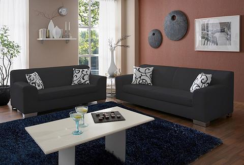 Rinkinys: Dvivietė sofa + Trivietė sof...