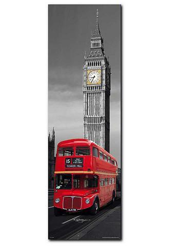 Paveikslas »London Red Bus« 30/90 cm