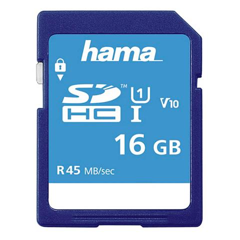 Speicherkarte SDHC 16GB Class 10 UHS-I...