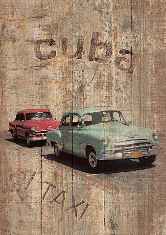 HOME AFFAIRE Paveikslas »Cuba - El Taxi« 60/80 cm