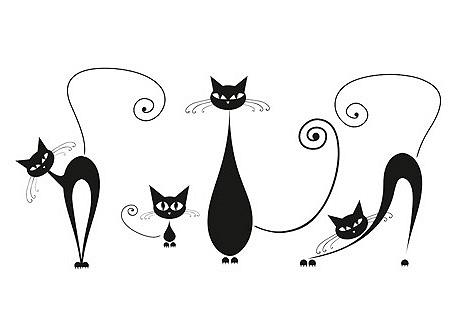Dekoratyviniai lipdukai »Black Cats«