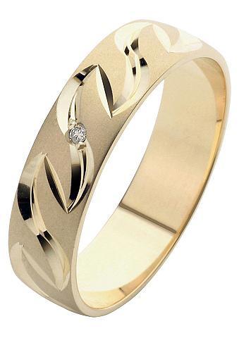 FIRETTI Vestuvinis žiedas su Gravur »Glanz mat...