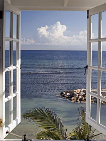 HOME AFFAIRE Stiklinis paveikslas »Fenster su Ausbl...