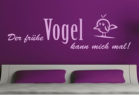 Sienų lipdukai »Der frühe Vogel kann m...
