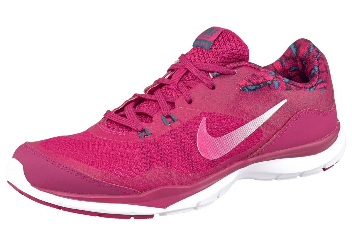 Große Größen: Nike Flex Trainer 5 Print Wmns Fitnessschuh, Fuchsia-Pink, Gr.36-43