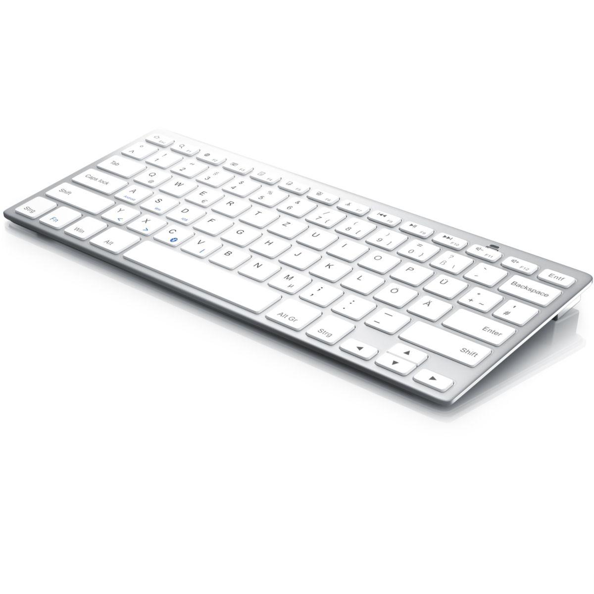 CSL Wireless Bluetooth Tastatur im modischen & ultra-dünnen Design »ergonomisch & trageleicht«