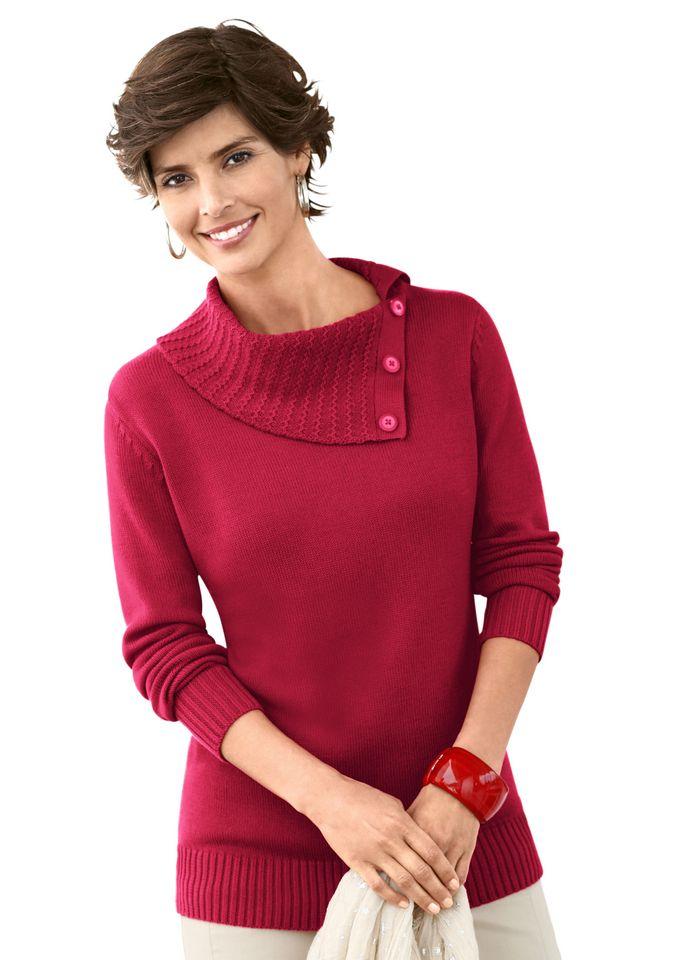 женский пуловер с запахом спицами
